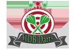 Logo van aangesloten dartsbond: Halderbergse Darts Bond